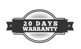 20 days warranty illustration design. Stamp badge icon stock illustration