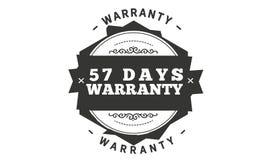 57 days warranty illustration design. Stamp badge icon vector illustration