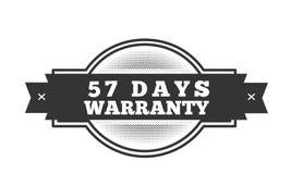 57 days warranty illustration design. Stamp badge icon stock illustration
