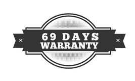 69 days warranty illustration design. Stamp badge icon royalty free illustration