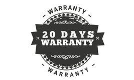 20 days warranty illustration design. Stamp badge icon royalty free illustration