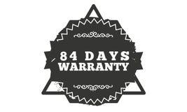 84 days warranty illustration design. Stamp badge icon stock illustration