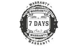7 days warranty illustration design stamp badge icon. 7 days warranty illustration design stamp badge illustration icon vector illustration