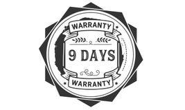 9 days warranty illustration design stamp badge icon. 9 days warranty illustration design stamp badge illustration icon stock illustration