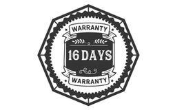 16 days warranty illustration design stamp badge icon. 16 days warranty illustration design stamp badge illustration icon stock illustration