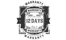 12 days warranty illustration design stamp badge icon. 12 days warranty illustration design stamp badge illustration icon vector illustration