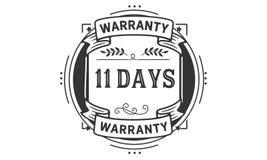 11 days warranty illustration design stamp badge icon. 11 days warranty illustration design stamp badge illustration icon vector illustration