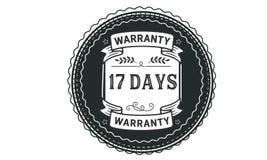 17 days warranty illustration design stamp badge icon. 17 days warranty illustration design stamp badge illustration icon royalty free illustration