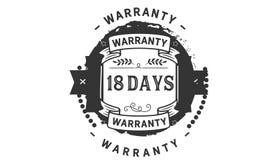 18 days warranty illustration design stamp badge icon. 18 days warranty illustration design stamp badge illustration icon vector illustration
