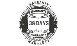 38 days warranty illustration design stamp badge icon. 38 days warranty illustration design stamp badge illustration icon stock illustration
