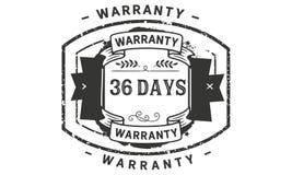 36 days warranty illustration design stamp badge icon. 36 days warranty illustration design stamp badge illustration icon royalty free illustration