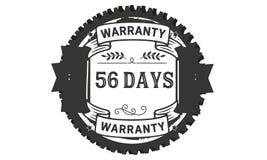 56 days warranty illustration design stamp badge icon. 56 days warranty illustration design stamp badge illustration icon vector illustration