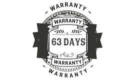 63 days warranty illustration design stamp badge icon. 63 days warranty illustration design stamp badge illustration icon stock illustration