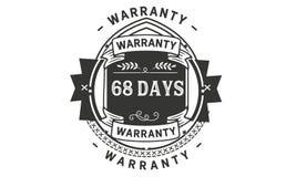 68 days warranty illustration design stamp badge icon. 68 days warranty illustration design stamp badge illustration icon vector illustration
