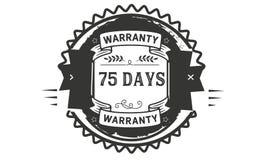 73 days warranty illustration design stamp badge icon. 73 days warranty illustration design stamp badge illustration icon royalty free illustration