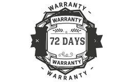 72 days warranty illustration design stamp badge icon. 72 days warranty illustration design stamp badge illustration icon stock illustration