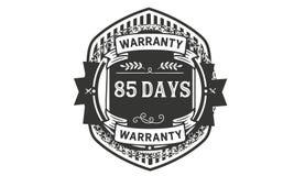 85 days warranty illustration design stamp badge icon. 85 days warranty illustration design stamp badge illustration icon vector illustration