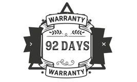 92 days warranty illustration design stamp badge icon. 92 days warranty illustration design stamp badge illustration icon vector illustration