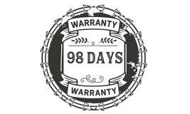 98 days warranty illustration design stamp badge icon. 98 days warranty illustration design stamp badge illustration icon royalty free illustration