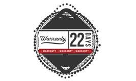 22 days warranty illustration design stamp badge icon. 22 days warranty illustration design stamp badge illustration icon royalty free illustration