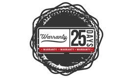 25 days warranty illustration design stamp badge icon. 25 days warranty illustration design stamp badge illustration icon royalty free illustration