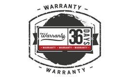 36 days warranty illustration design stamp badge icon. 36 days warranty illustration design stamp badge illustration icon stock illustration