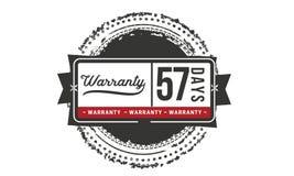 57 days warranty illustration design stamp badge icon. 57 days warranty illustration design stamp badge illustration icon vector illustration