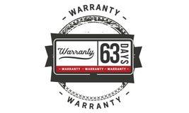 63 days warranty illustration design stamp badge icon. 63 days warranty illustration design stamp badge illustration icon royalty free illustration