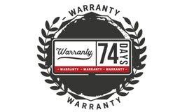 74 days warranty illustration design stamp badge icon. 74 days warranty illustration design stamp badge illustration icon royalty free illustration