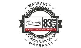 83 days warranty illustration design stamp badge icon. 83 days warranty illustration design stamp badge illustration icon vector illustration