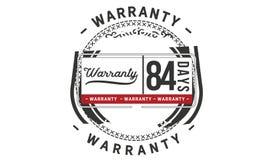 84 days warranty illustration design stamp badge icon. 84 days warranty illustration design stamp badge illustration icon royalty free illustration