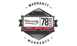 78 days warranty illustration design stamp badge icon. 78 days warranty illustration design stamp badge illustration icon stock illustration