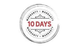 10 days warranty illustration design stamp. Badge icon quote illustration vector illustration