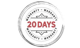 20 days warranty illustration design stamp. Badge icon quote illustration royalty free illustration
