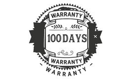 100 days warranty illustration design stamp badge icon. 100 days warranty illustration design stamp badge illustration icon stock illustration