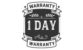 1 days warranty illustration design stamp badge icon. 1 days warranty illustration design stamp badge illustration icon stock illustration