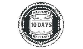 10 days warranty illustration design stamp badge icon. 10 days warranty illustration design stamp badge illustration icon royalty free illustration