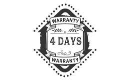 4 days warranty illustration design stamp badge icon. 4 days warranty illustration design stamp badge illustration icon vector illustration