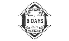 8 days warranty illustration design stamp badge icon. 8 days warranty illustration design stamp badge illustration icon vector illustration