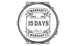 15 days warranty illustration design stamp badge icon. 15 days warranty illustration design stamp badge illustration icon royalty free illustration