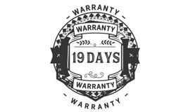 19 days warranty illustration design stamp badge icon. 19 days warranty illustration design stamp badge illustration icon stock illustration