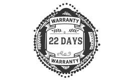 22 days warranty illustration design stamp badge icon. 22 days warranty illustration design stamp badge illustration icon vector illustration