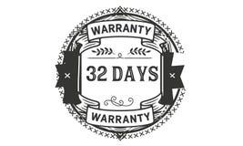 32 days warranty illustration design stamp badge icon. 32 days warranty illustration design stamp badge illustration icon vector illustration