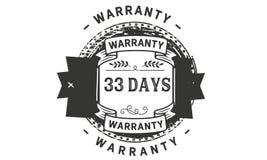 33 days warranty illustration design stamp badge icon. 33 days warranty illustration design stamp badge illustration icon stock illustration