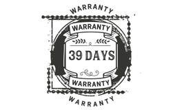 39 days warranty illustration design stamp badge icon. 39 days warranty illustration design stamp badge illustration icon vector illustration