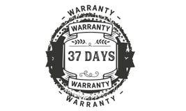 37 days warranty illustration design stamp badge icon. 37 days warranty illustration design stamp badge illustration icon vector illustration