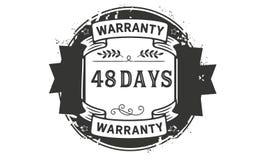 48 days warranty illustration design stamp badge icon. 48 days warranty illustration design stamp badge illustration icon stock illustration