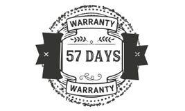 57 days warranty illustration design stamp badge icon. 57 days warranty illustration design stamp badge illustration icon stock illustration