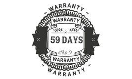 59 days warranty illustration design stamp badge icon. 59 days warranty illustration design stamp badge illustration icon stock illustration