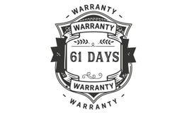 61 days warranty illustration design stamp badge icon. 61 days warranty illustration design stamp badge illustration icon royalty free illustration